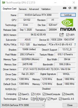 Asus ROG STRIX RTX 3090 OC Gaming 24GB GDDR6X 384-bit PCIe 4.0 Graphics Card GPU