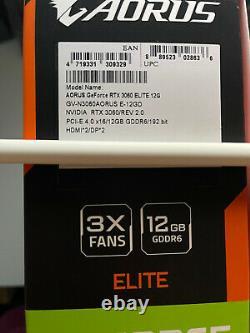 GIGABYTE AORUS GeForce RTX 3060 12GB GDDR6 PCI Express 4.0 ATX Video Card Rev2.0