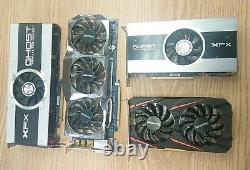 Lot of 4 AMD Gigabyte (RX460 + HD 6870) XFX (HD 7850 + HD 7950) For PARTS READ