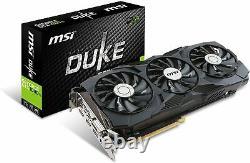 MSI GeForce GTX 1080 Ti DUKE 11G OC GDDR5X Gaming Video Card HDCP Ready SLI PCIe