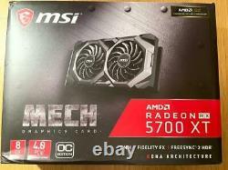 MSI R5700XTMHC AMD Radeon RX 5700 XT Mech OC 8GB GDDR6 PCI-Express 4.0 Video Car