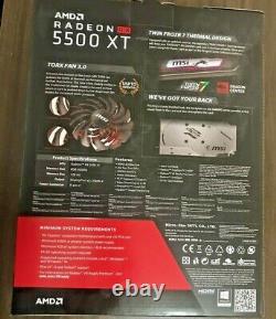 MSI Radeon RX 5500 XT GAMING X GDDR6 Graphics Card 8GB VR Ready AMD PCI-E 4.0