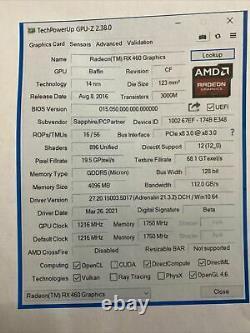 SAPPHIRE AMD Radeon RX460 4GB 896SP GDDR5 PCI-E Video Card DP DVI HDMI