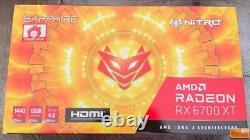 Sapphire Nitro+ AMD Radeon RX 6700 XT OC 12GB GDDR6 PCI Express 4 Graphics Card