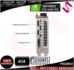 Tarjeta Grafica Asus Ph Gtx 1650 Oc 4gb Gddr6 Pcie3.0 Nvidia Geforce Stock Real